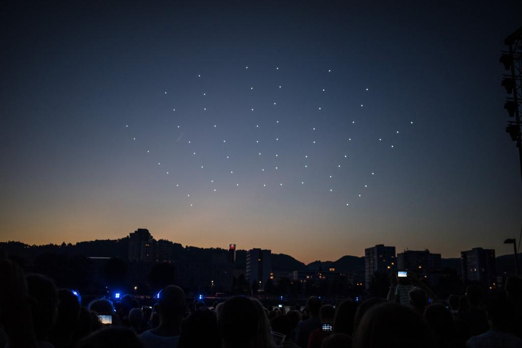 Spaxels Over Linz_Robert Bauernhansl